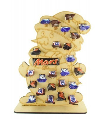6mm Mars, Snickers and Milkyway Chocolate Bars Funsize Minis Holder Advent Calendar - Snowman