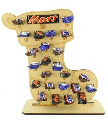 6mm Mars, Snickers and Milkyway Chocolate Bars Funsize Minis Holder Advent Calendar - Stocking