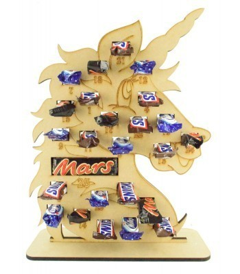 6mm Mars, Snickers and Milkyway Chocolate Bars Funsize Minis Holder Advent Calendar - Unicorn