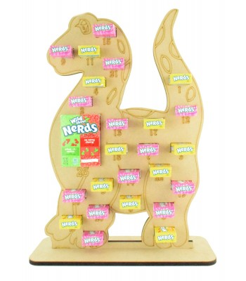 6mm Nerds Candy Sweets Holder Advent Calendar - Dinosaur
