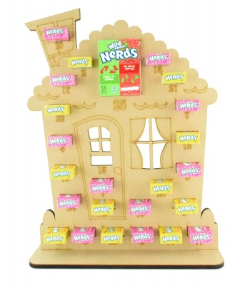 6mm Nerds Candy Sweets Holder Advent Calendar - Gingerbread House