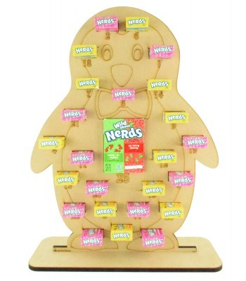 6mm Nerds Candy Sweets Holder Advent Calendar - Boy Penguin