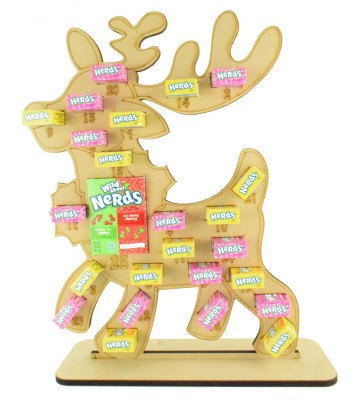 6mm Nerds Candy Sweets Holder Advent Calendar - Reindeer