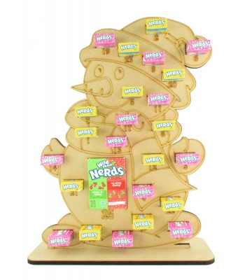 6mm Nerds Candy Sweets Holder Advent Calendar - Snowman