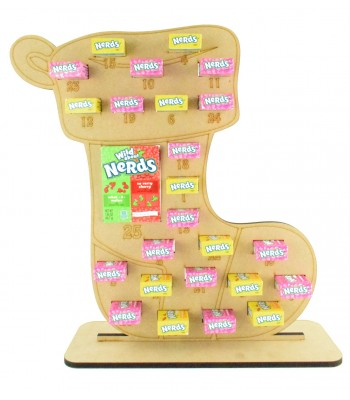 6mm Nerds Candy Sweets Holder Advent Calendar - Stocking