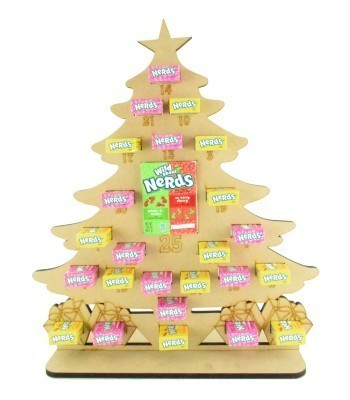 6mm Nerds Candy Sweets Holder Advent Calendar - Christmas Tree