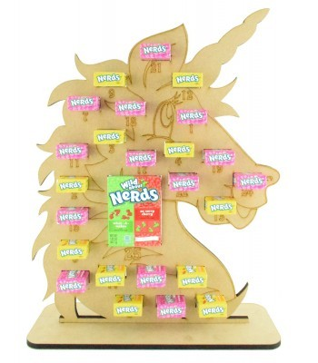 6mm Nerds Candy Sweets Holder Advent Calendar - Unicorn