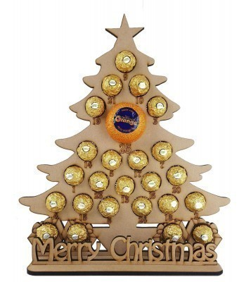 6mm Christmas Tree Chocolate Orange and Ferrero Rocher Holder Advent Calendar