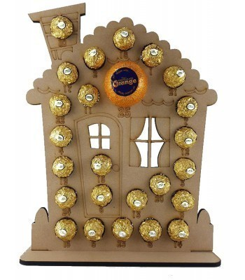 6mm Gingerbread House Chocolate Orange and Ferrero Rocher Holder Advent Calendar