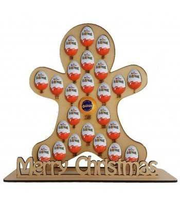 6mm Gingerbread Chocolate Orange & Kinder Egg Holder Advent Calendar on a Stand