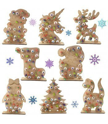 3mm Christmas Lolly Pop Holder Advent Calendar on a 6mm Stand - BULK BUY MIXED