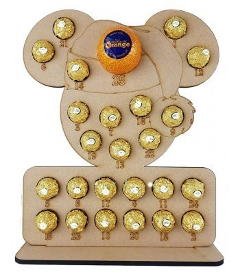 6mm Santa Mouse Chocolate Orange and Ferrero Rocher Holder Advent Calendar