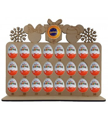 6mm Mouse Head Shapes Plaque Chocolate Orange & Kinder Egg Holder Advent Calendar on a Stand