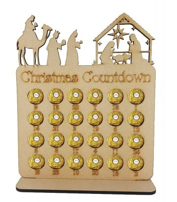 6mm Nativity Scene Plaque Ferrero Rocher Holder Advent Calendar