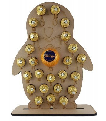 6mm Penguin Chocolate Orange and Ferrero Rocher Holder Advent Calendar