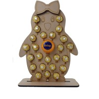 Girl Penguin Advent Calendar Fits Terry Chocolate Orange & Ferrero Rocher or Lindt Chocolates