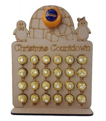 6mm Penguin Family & Igloo Chocolate Orange and Ferrero Rocher Holder Advent Calendar