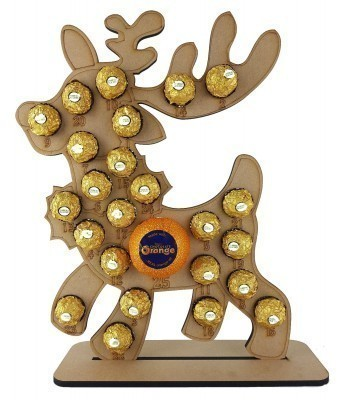 6mm Reindeer Chocolate Orange and Ferrero Rocher Holder Advent Calendar