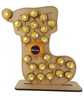 6mm Stocking Chocolate Orange and Ferrero Rocher Holder Advent Calendar
