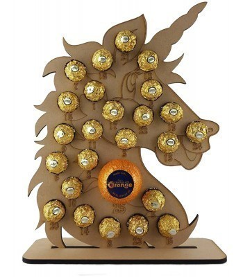 6mm Unicorn Chocolate Orange and Ferrero Rocher Holder Advent Calendar