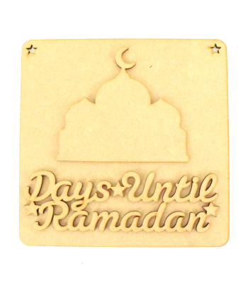 Laser Cut 3D 'Days Until Ramadan' Countdown Plaque