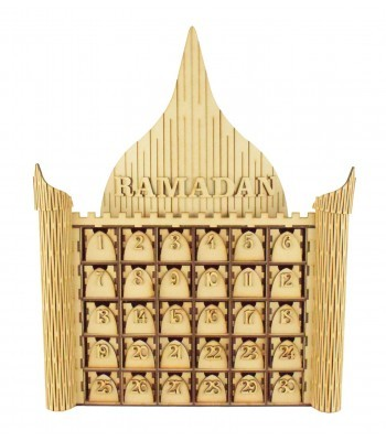 Laser Cut 3D Ramadan Temple Calendar Drawers with numbers - 30 Drawers