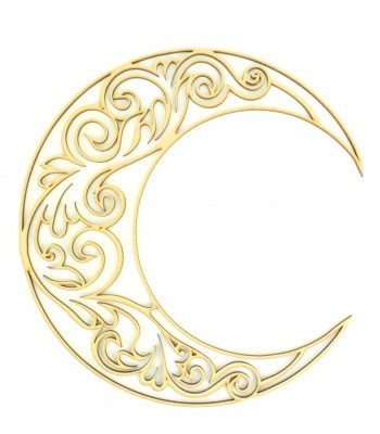 Laser Cut Decorative Arabic Moon - Design 3