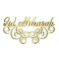 Laser Cut 'Eid Mubarak' 6mm Sign