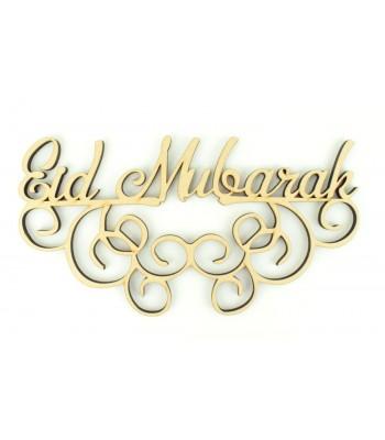Laser Cut 'Eid Mubarak' 6mm Sign