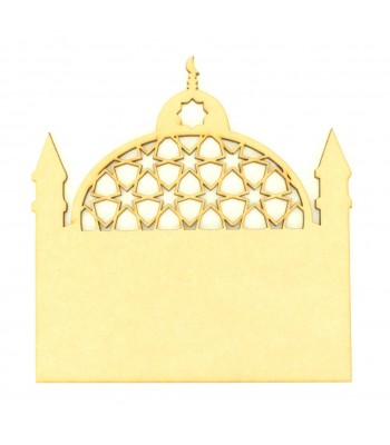 Laser Cut Blank Temple Plaque - Design 1