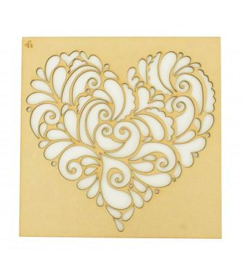 Laser Cut Heart Design Stencil 4