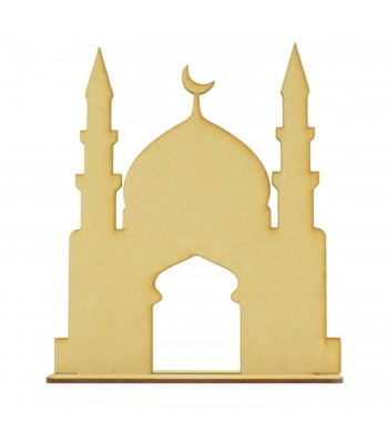 Laser Cut Blank Mosque Temple On Stand