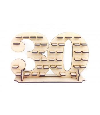 Freestanding Large Ferrero Rocher Chocolate Birthday Number Display Stand