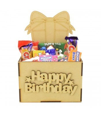 Laser Cut Birthday Hamper Treat Boxes - Present