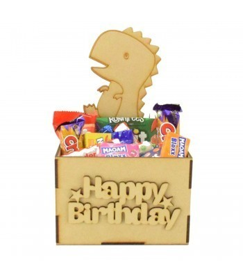 Laser Cut Birthday Hamper Treat Boxes - Dinosaur