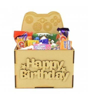 Laser Cut Birthday Hamper Treat Boxes - X-Box Controller