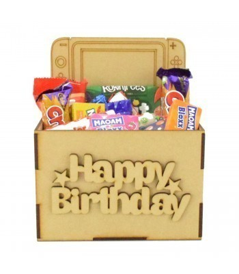 Laser Cut Birthday Hamper Treat Boxes - Nintendo Switch