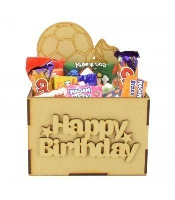 Laser Cut Birthday Hamper Treat Boxes - Football