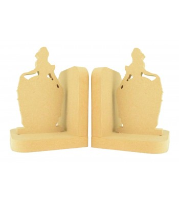 18mm Freestanding MDF Princess Pair of Bookends