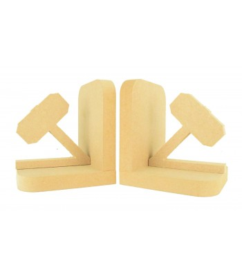 18mm Freestanding MDF Thor Hammer Pair of Bookends