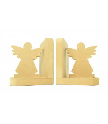 18mm Freestanding MDF 'Angel' Shape Pair of Bookends