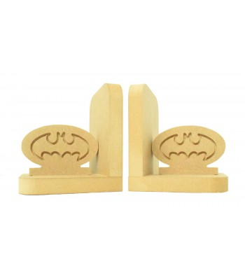 18mm Freestanding MDF 'Batman Logo' Shape Pair of Bookends