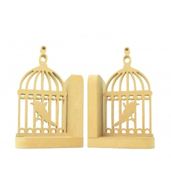18mm Freestanding MDF 'Bird Cage' Shape Pair of Bookends