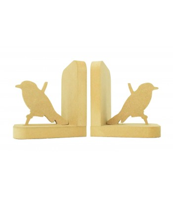 18mm Freestanding MDF 'Bird on a Branch' Shape Pair of Bookends