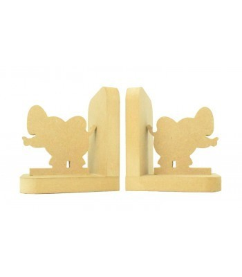 18mm Freestanding MDF 'Elephant' Shape Pair of Bookends