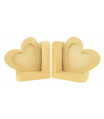 18mm Freestanding MDF Love Heart Photo Frame Pair of Bookends