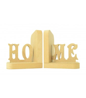 18mm Freestanding MDF 'HOME' Pair of Bookends