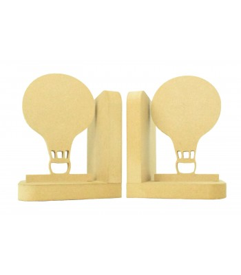 18mm Freestanding MDF 'Hot Air Balloon' Shape Pair of Bookends