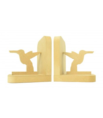 18mm Freestanding MDF 'Humming Bird' Shape Pair of Bookends