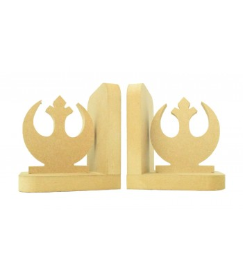 18mm Freestanding MDF 'Rebel Alliance Symbol' Shape Pair of Bookends